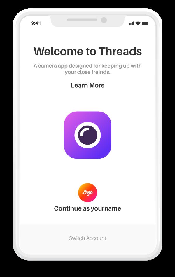 camera customise instagram threads
